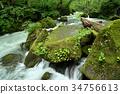 奧入瀨溪流 河 峽谷急流 34756613