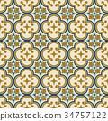 復古 無縫的 花紋 34757122