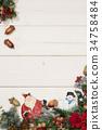 크리스마스, 눈사람, 메시지 34758484