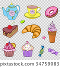Set of various sweets 34759083