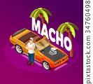 Macho Man Luxury Car isometric Image  34760498
