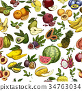 Fruits as seamless pattern background for wrapper 34763034