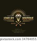 vector emblem diamond 34764055