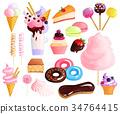 icon, sweet, bakery 34764415