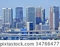도쿄 도시 풍경 빌딩 34766477