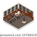 Orchestra Isometric Illustration 34768429