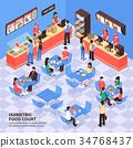 Fast Food Isometric Illustration 34768437