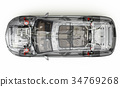 Suv detailed cutaway 3D rendering. Top view. 34769268