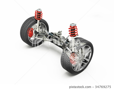Multi Link Front Car Suspensions Stock Illustration 34769275