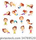 瑜伽 瑜珈 孩子 34769520