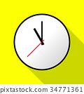 Clock icon, Vector illustration, flat design EPS10 34771361