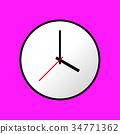 Clock icon, Vector illustration, flat design EPS10 34771362