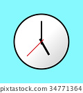 Clock icon, Vector illustration, flat design EPS10 34771364