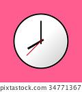 Clock icon Vector illustration, flat design EPS10 34771367