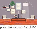 Cool graphic living room interior design with 34771454