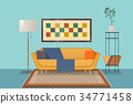 Living room interior design with furniture ouch 34771458