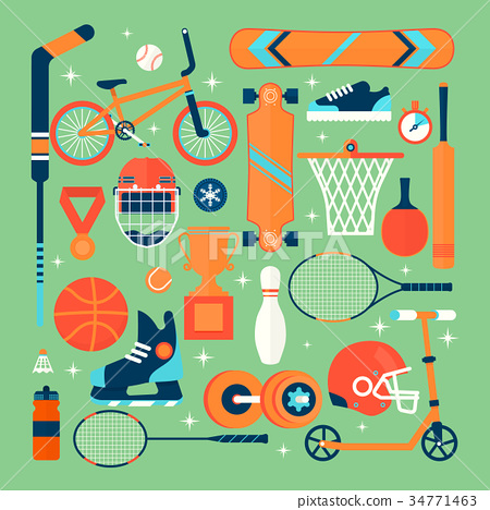 Set of colorful sport icons.Isolated vector 34771463