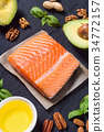 food, healthy, salmon 34772157