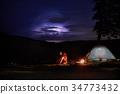 night, tourist, camping 34773432
