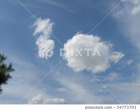 푸른 하늘, 파란 하늘, 흰 구름 34773701