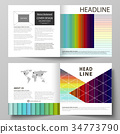 Business templates for square bi fold brochure 34773790