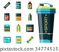 Sport nutrition healthy food fitness diet 34774515