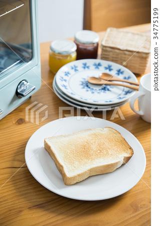 熱吐司圖像 34775199