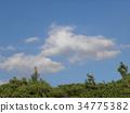 blue sky, White Clouds, september 34775382