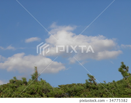 blue sky, White Clouds, september 34775382