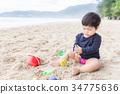 嬰兒 寶寶 海灘 34775636