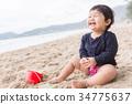 嬰兒 寶寶 海灘 34775637