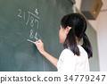 小学生 黒板 算数 34779247