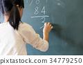 小学生 黒板 算数 34779250