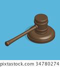 vector, hammer, judge 34780274