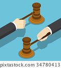 gavel, judge, hand 34780413