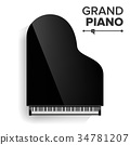 instrument, piano, vector 34781207