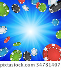 Online Casino Winner Background.  34781407