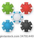 chip, casino, vector 34781440