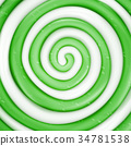 Lollipop Vector Background. Green Sweet Candy  34781538
