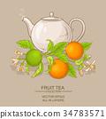 orange, illustration, tea 34783571