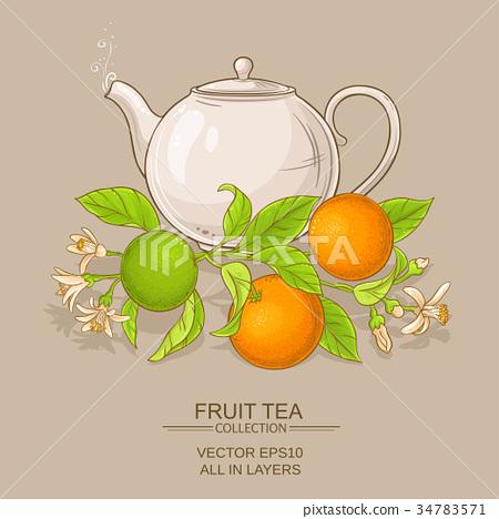 orange tea illustration 34783571