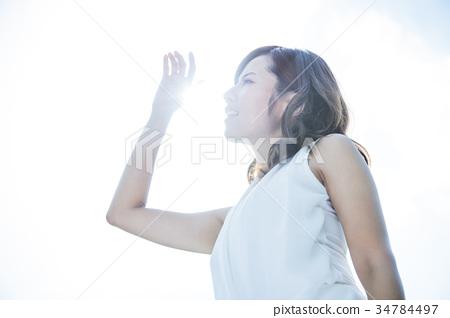 女性紫外線護理美容美容紫外線 34784497