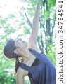 瑜伽普拉提健身女性運動 34784541