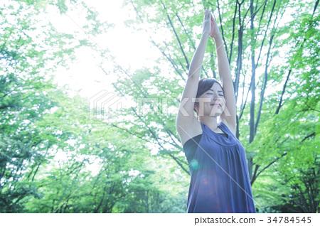 瑜伽普拉提健身女性運動 34784545