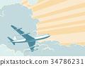飛機 飛行 空氣 34786231