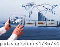 business of worldwide  import-export commercial logistic 34786754