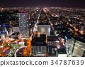 홋카이도 삿포로시 거리 풍경 야경 (JR 타워 전망대에서) 2017 년 10 월 촬영 34787639