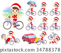 Santa Claus Costume mom_city bicycle 34788378