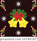 Christmas Bell and Candy Stick 34789187