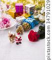 聖誕節圖像(聖誕老人和馴鹿) 34791029